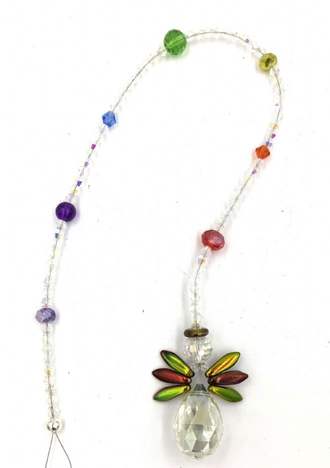 Chakra hanging tree angel for your garden or window